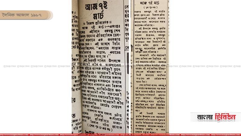 দৈনিক আজাদ ১৯৮৭