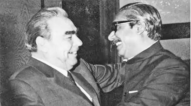 Leonid Brezhnev, President of the then Soviet Union met Bangabandhu Sheikh Mujibur Rahman on 3 March 1972. Photo: Collected