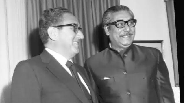 US foreign minister Henry Kissinger met Bangabandhu Sheikh Mujibur Rahman at the Waldorf Towers at 10:30am on 30 September 1974.