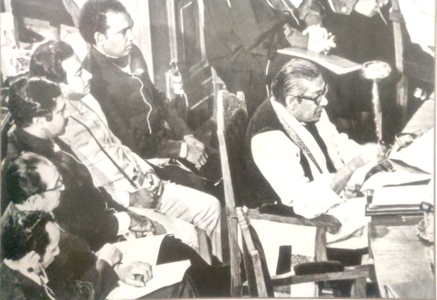 Sheikh Mujibur Rahman at the Islamic nations meet (OIC) in Lahore on 23 February 1974.